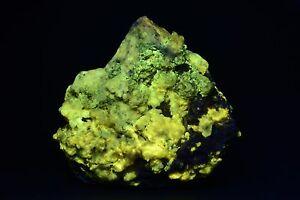 JH9554 Large 4 lb Yellow Fluorescing Quartz, La Sassa, Italy