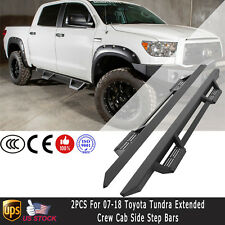 Pair For 2007-2018 Toyota Tundra Crew Max Cab Side Step Bars RT Running Boards