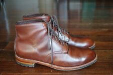 WORN 5x | $623 ALDEN 12 BROWN PLAIN TOE DERBY BOOT PTB COMMANDO OUTSOLE