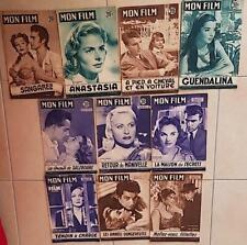 LOT de 10 revues cinema:  MON FILM. (Lot N°4) années 50
