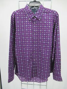 I2451 Tommy Hilfiger Men's Long Sleeve Button Down Casual Shirt Size M