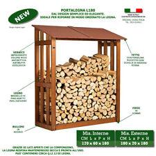 Portalegna L180 tettoia pensilina box in legno da esterno per legnaia giardino