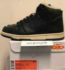 Nike Dunk Hi 6.0 Premium Black Sherpa sz 9 Men 10.5 Wmns DS 454054-001
