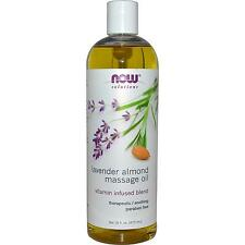 Organic Pure NOW Foods Lavender Almond Massage Oil 16oz. Bottle For Relaxation