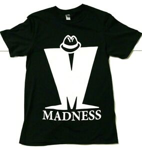 Madness tshirt official SKA ska mens unisex 100% cotton crew neck black suggs