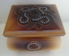 NEW!!! Ukrainian wooden jewelry box Casket Souvenir Gift Carved Handmade 12 cm