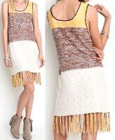 Umgee Dress Size XL S M L Block Color Tank Swim Cover Beach Sun Boho Womens New