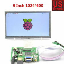 "9inch 9"" TFT LCD Display Module HDMI+VGA+2AV Driver Board for Raspberry Pi NEW"