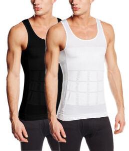SODACODA Men's Firm Tummy Belly Control Slimming Body Shaper Vest Undershirt