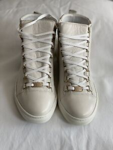 Balenciaga Extra Blanc Off White Arena High Top Sneakers EUR 41/ US 8