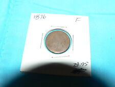 1876 Indian Head Cent Copper Nickel Antique Vintage Coin F+ Penny