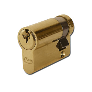 ASEC 5-Pin Mechanism Euro Half Good Entry Level Cylinder Keyed to Differ