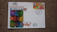 AUSTRALIAN FDC ALPHA FIRST DAY COVER, 2003 CELEBRATION & NATION, LETS PARTY
