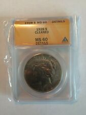 1928 P Peace Silver Dollar ANACS MS-60 sealed in bag