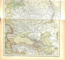 Russie d'Europe Agriculture Mines d'Or argent cuivre fer platine MAP CARTE 1896