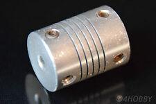 Flexible Wellenkupplung Alu 4 x 6mm Welle Mini Kupplung für Schrittmotor Antrieb