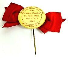 New listing Antique 1909 American Humane Association Pinback Minnesota Pin