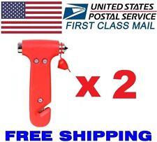 2pcs Car Window Seat Safety Auto Emergency Life-saving Hammer Belt Cutter Tool