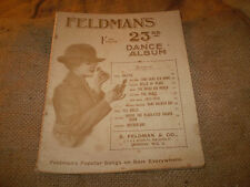 FELDMANS BRITISH HISTORIC 1918, END OF WW1 SHEET MUSIC,23RD DANCE ALBUM