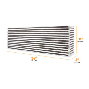 Mishimoto Universal Air-to-Air Race Intercooler Core 24.00in x 12.00in x 4.00in
