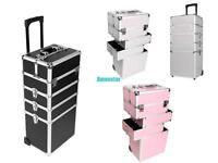 Mallette coffrets boîte à maquillage bijoux et cosmétique beauty Case Trolley