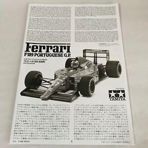 Tamiya 1/20 Ferrari F189 PORTUGUESE GP Late Version Car Model Kit