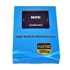 MINI HDMI TO AV COMPOSITE RCA CVBS VIDEO AUDIO CONVERTER ADAPTOR 1080P HDMI2AV