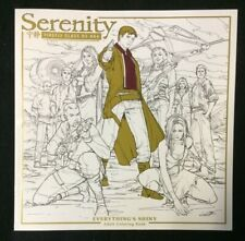 Serenity: Everything's Shiny Adult Coloring Book New Unused Firefly Joss Whedon
