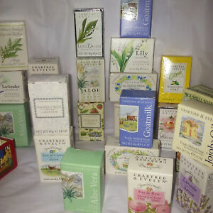 crabtree evelyn jojoba, cold cream, miniature  travel soap choose one
