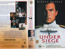 UNDER SIEGE - Steven Seagal - VHS - PAL -NEW -Never played! -Original Oz release