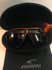 Carrera Fashion Men & Women's Dark Tea&Gold Retro Sunglasses+Carrera Case&Cloth.