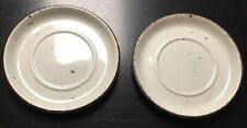 """Midwinter Stonehenge Wild Oats speckled 6 1/4"""" Saucers Made In England Set of 2"""