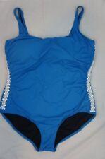 Michael Kors One Piece Sz 22W Summer Blue U-Neck Shirred Mio Swimsuit MP40119