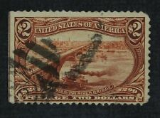 CKStamps: US Stamps Collection Scott#293 $2 Used Lightly Crease