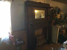 Victorian Ornated Fireplace Mantel W/ Beveled Miror