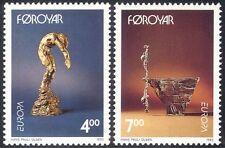 Faroes 1993 Europa/Contemporary Art/Sculpture/Statues/Bronze 2v set (n23881)