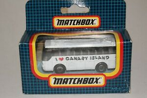 "MATCHBOX SUPERFAST #MB67 IKARUS COACH BUS, ""I LOVE CANARY ISLAND"", NEW IN BOX"
