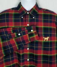 Ralph Lauren Blake Shirt Mens L Red Blue Green Tartan Plaid Golden Retriever Dog
