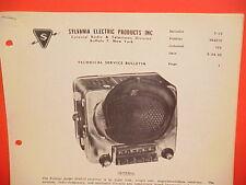 1950 PONTIAC CHIEFTAIN STREAMLINER COLONIAL SYLVANIA AM RADIO SERVICE MANUAL 734