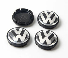 4x VW 75mm ALLOY WHEEL CENTRE HUB CAPS MK5 MK6 GOLF POLO SCIROCCO PASSAT