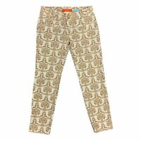 Anthropologie Cartonnier Brocade Charlie Ankle Pants Women's Size 4 Skinny Gold