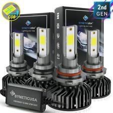 Syneticusa 9005+9006 LED Combo Headlight Kit Light Bulbs Hi Low Beam 12000lm