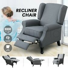 Luxdream Sofa Recliner Chair Armchair Single Padded Fabric Couch Lounge Home