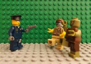 3 LEGO Brand New Mini Figures Policemen With Gun & 2 Zombie Walking Dead Series