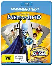 Megamind - Blu-ray + DVD, 2-Disc Set (VGC) Aus Region B