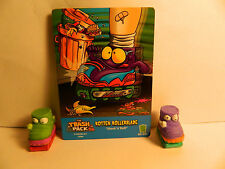 Trash Pack Series 3 #386 & 398 Rotten Rollerblade & card    **New out of pack**