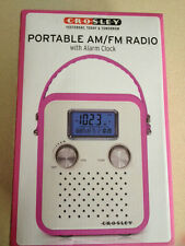 Crosley Portable AM/FM Radio with Alarm. Brand New. Pink