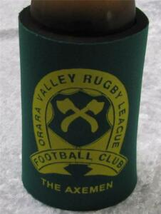 RUSSELL CROWE STUBBY HOLDER -TOFOG  & ORARA VALLEY AXEMAN RUGBY LEAGUE CLUB