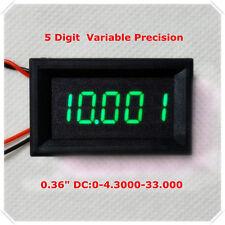 Green LED 5 Digit DC 0-4.3000-33.000V Digital Voltmeter Voltage Meter Car Panel