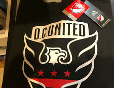 DC United Adidas T-Shirt Large Black Incredible Graphics And Fit!!